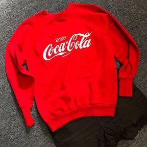 Vintage Red Coca Cola Sweatshirt size Large